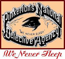 Pinkerton detective agency logo