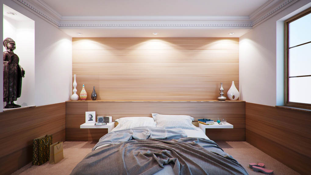 Searching a bedroom for hidden listening bugs