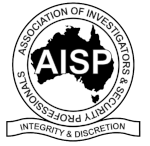 Logo of the Association of Investigators and & Security Professionals (AISP)